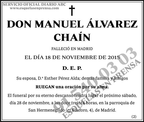 Manuel Álvarez Chaín
